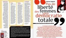 Pas de liberté des femmes sans démocratie totale
