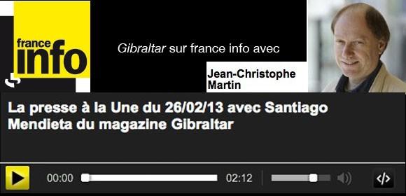 Gibraltar dans la Presse à la Une sur France Info
