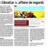 «Gibraltar, affaire de regards» dans Sud Ouest Dimanche