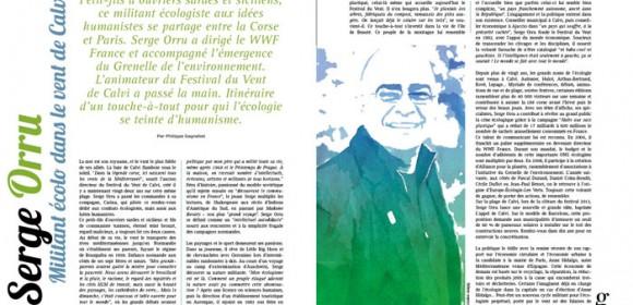 Serge Orru, militant écolo dans le vent de Calvi