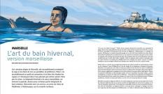 Marseille, l'art du bain hivernal, version marseillaise