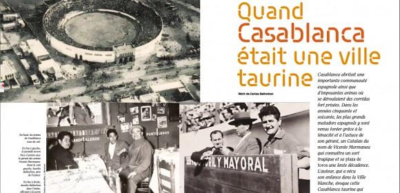 Quand Casablanca était une ville taurine, récit de Carlos Belinchon