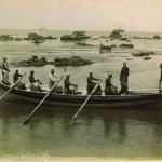 Barque et bateliers de Jaffa par Félix Bonfils